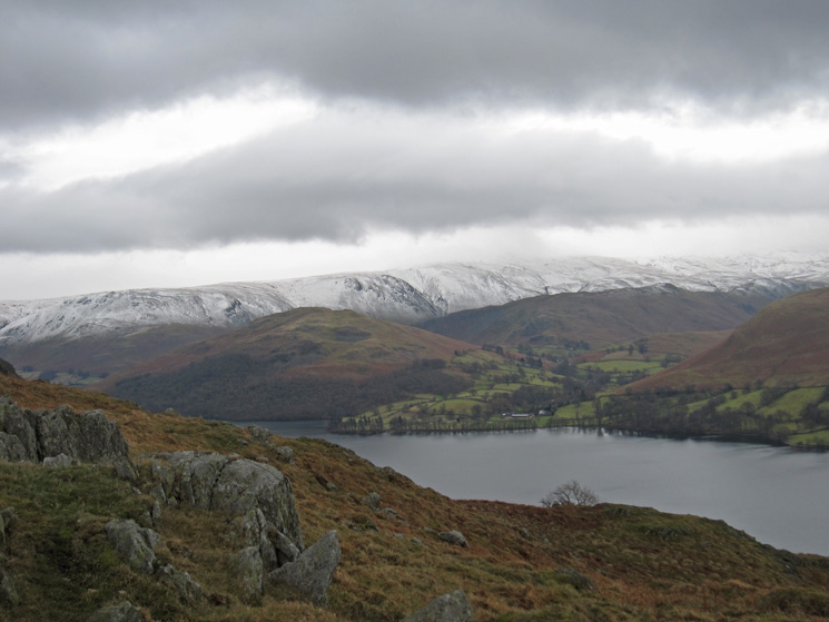 Over Ullswater to Hallin Fell with snow on the northen part of the High Street range