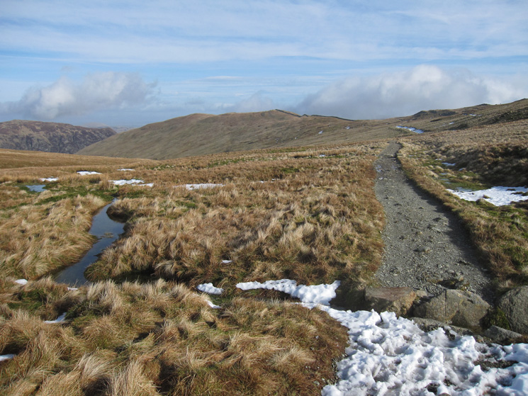 The path to The Hole in the Wall from Red Tarn, and then on to Birkhouse Moor