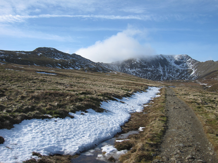 Looking back to a clearer Helvellyn