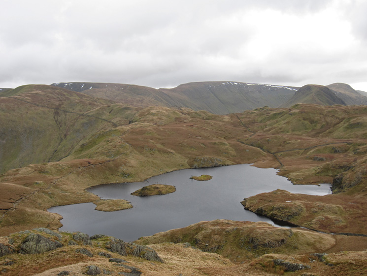 Over Angle Tarn to High Street from Angletarn Pikes' southern top