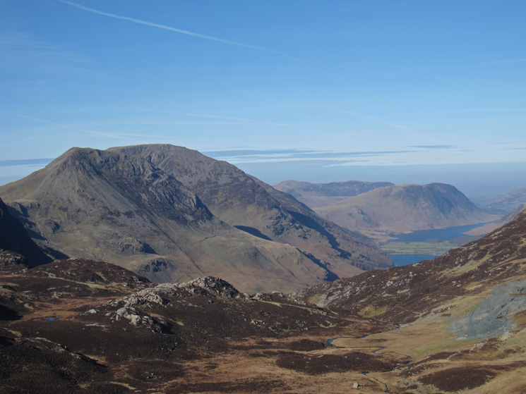 High Crag and High Stile with Buttermere and Crummock Water far below
