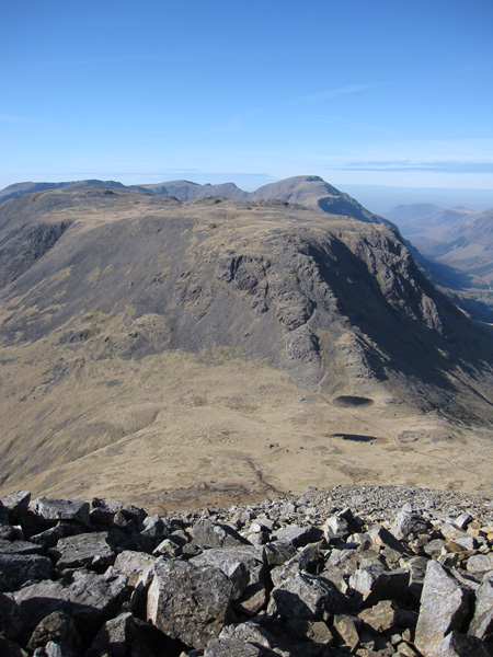 Kirk Fell with Pillar behind from the climb to Great Gable's summit