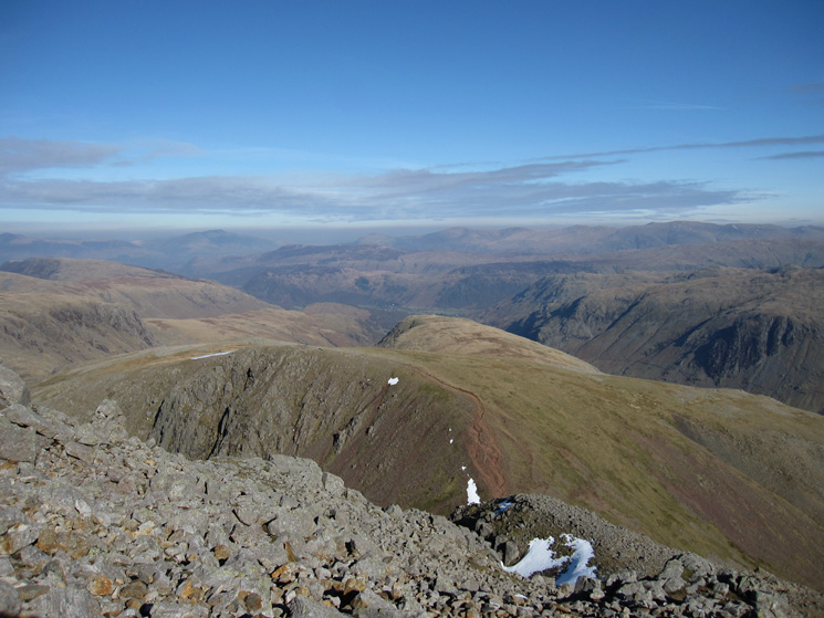 Green Gable with Base Brown behind as I head for Windy Gap