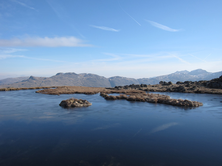 The Glaramara to Allen Crags ridge with Bowfell and Esk Pike on the far right