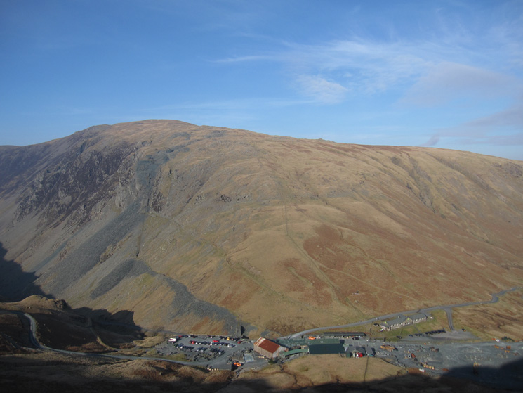 Honister Hause with Dale Head behind from the descent off Grey Knotts