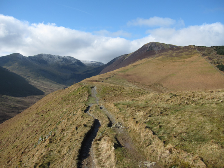 Sail, Eel Crag (Crag Hill) and Grisedale Pike from Kinn