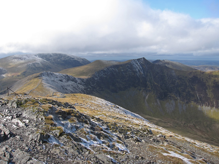 Grasmoor and Hopegill Head from Grisedale Pike's summit