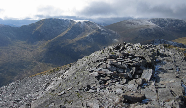 Eel Crag (Crag Hill) and Grasmoor from Grisedale Pike's summit