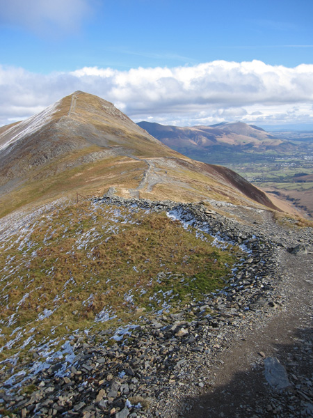 Looking back to Grisedale Pike