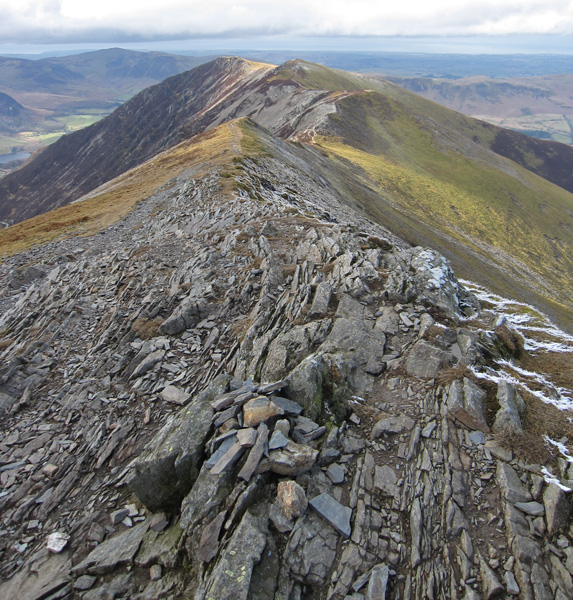 The ridge to Whiteside from Hopegill Head, I'm not going that way today