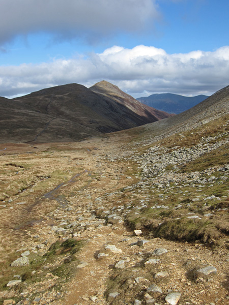 Looking back towards Grisedale Pike as I head for the col between Grasmoor and Eel Crag