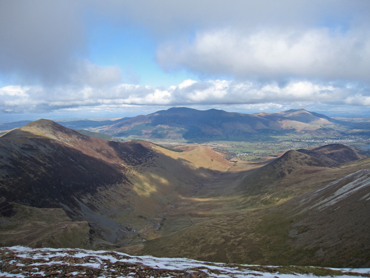 Coledale from Eel Crag's summit