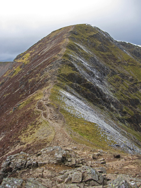Looking back to 'The Scar' onto Crag Hill as I head up Sail