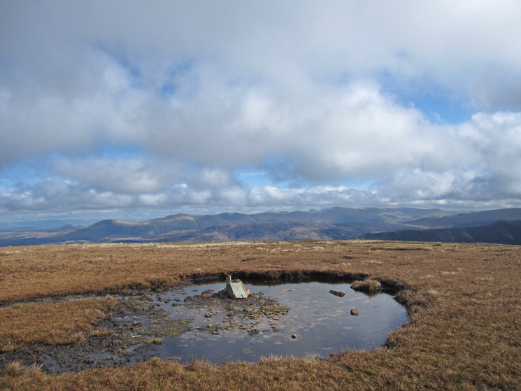 The Helvellyn ridge from Sail's summit
