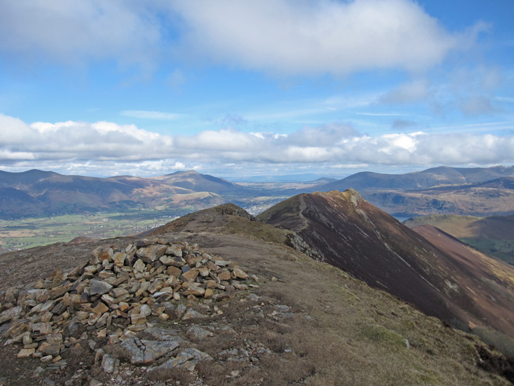 Causey Pike from Scar Crags summit