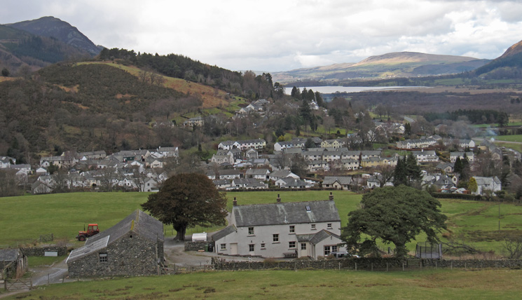 Braithwaite from above Braithwaite Lodge