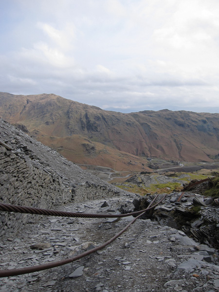 Through the mine workings on my ascent of Coniston Old Man