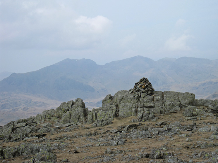 The Scafells from Grey Friar's summit