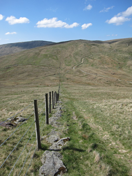 Looking over Gatescarth Pass to Adam Seat