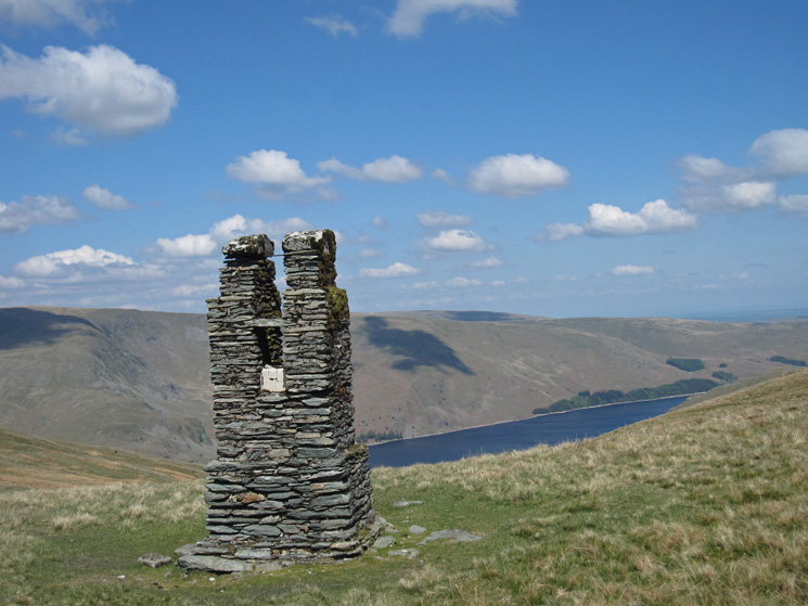 The survey post on Branstree and a glimpse of Haweswater
