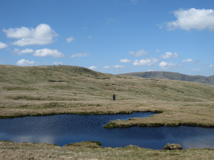 The larger of the two nameless tarns between Branstree and High Howes