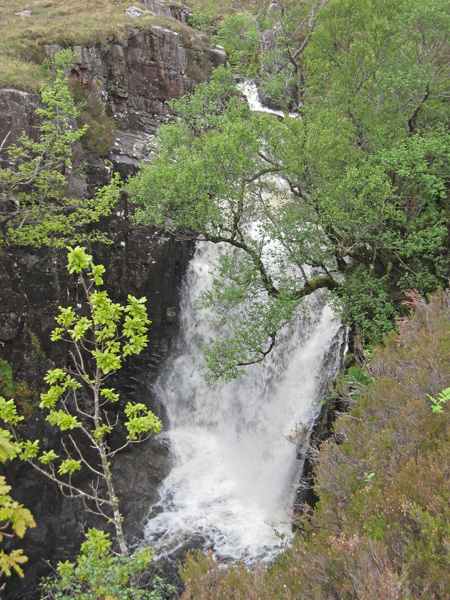 The main falls from above