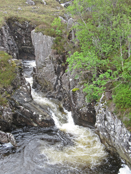 The river above the main falls
