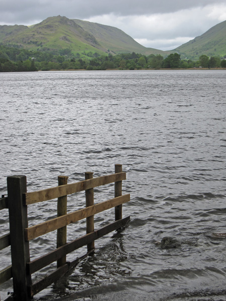 Looking across Grasmere to Helm Crag and Dunmail Raise