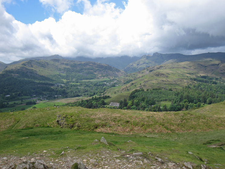 Looking towards Langdale with the higher fells in cloud