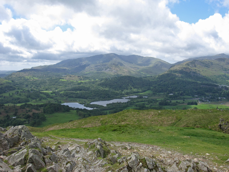 Over Elter Water to the Coniston Fells