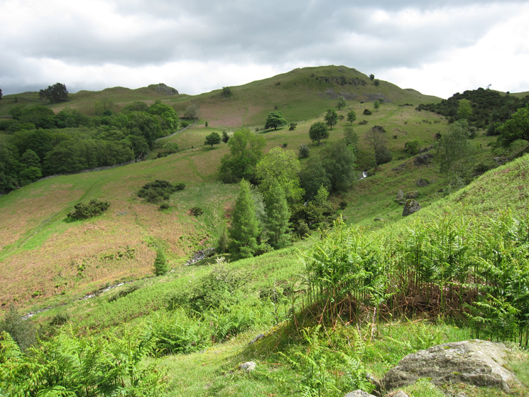 Towards Lanty Scar from near the cave