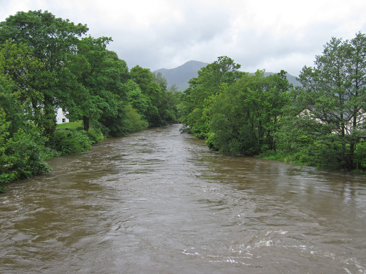 Lots of water in the River Greta as we head out of Keswick