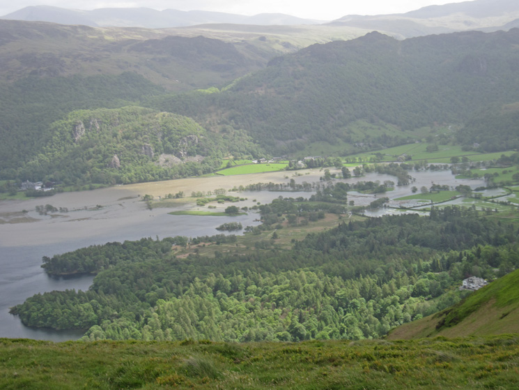 The extended head of Derwent Water