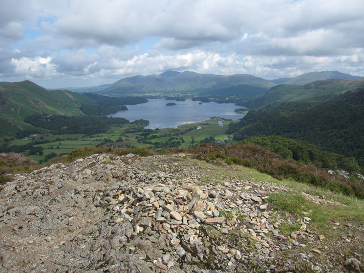 Derwent Water and the Skiddaw fells from King's How summit