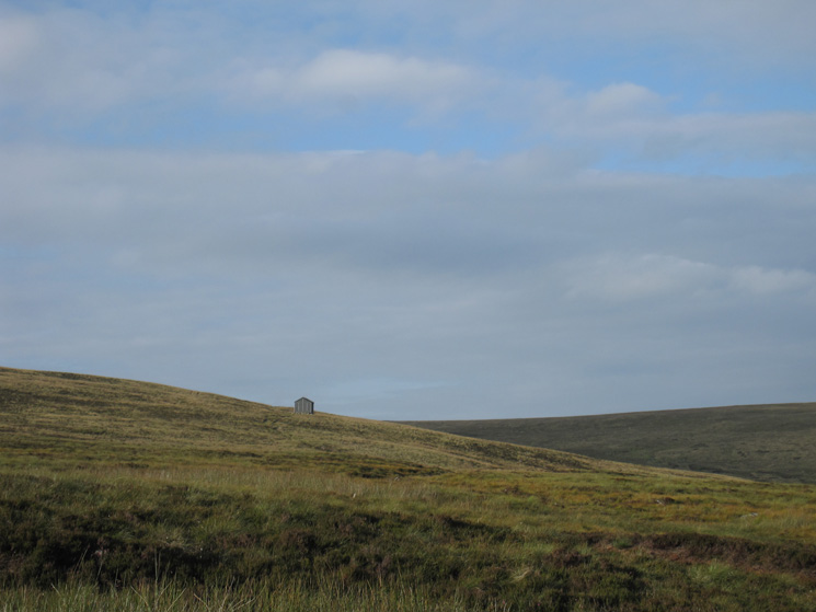 Looking across to Lingy Hut, we will be visiting it on our return