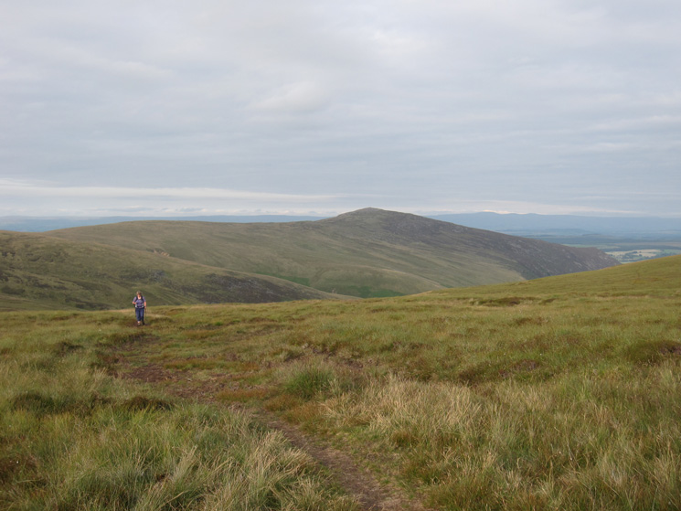 Ascending Knott with Carrock Fell behind