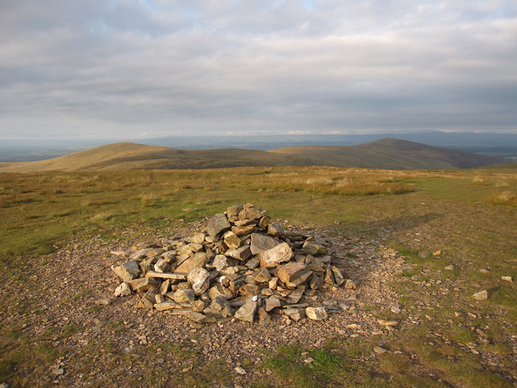 High Pike and Carrock Fell from Knott's summit