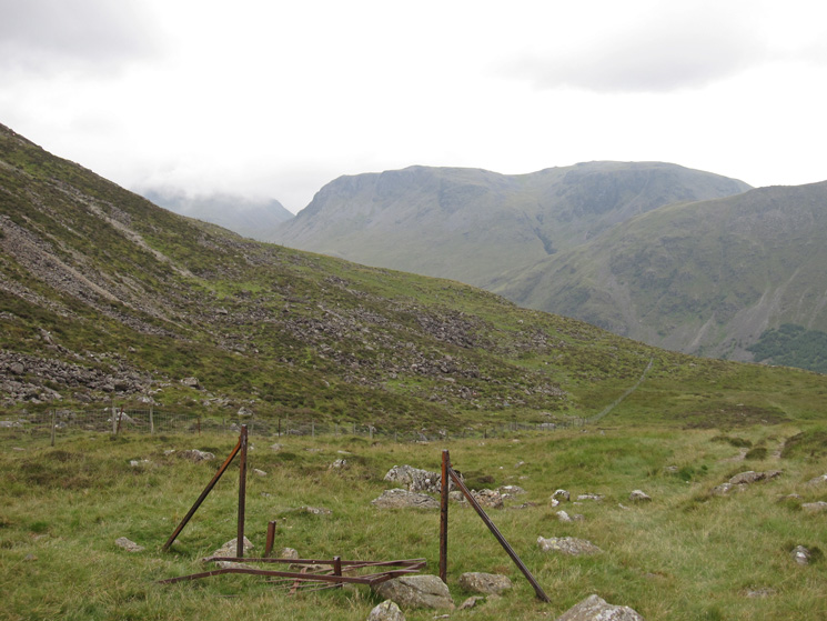 Scarth Gap Pass, looking towards Kirk Fell