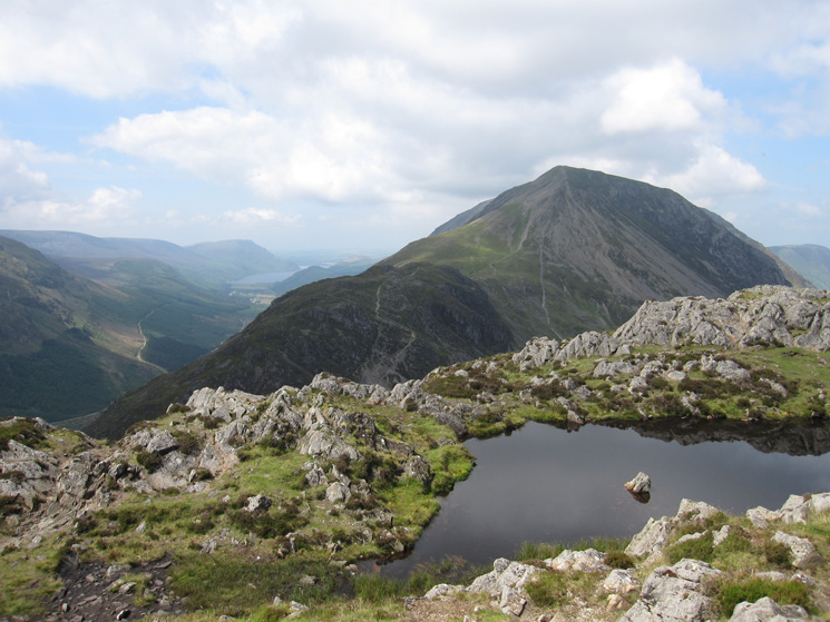 Seat and High Crag with Ennerdale Water in the distance from Haystacks summit