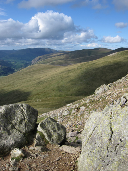 Towards Blencathra and Great Dodd from Swirl Gate