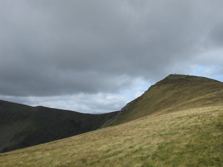 Looking back to Kidsty Pike's summit as we head down to Kidsty Howes