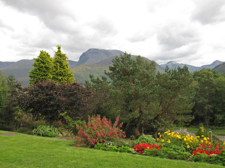 Ben Nevis from our B & B in Banavie, the evening before