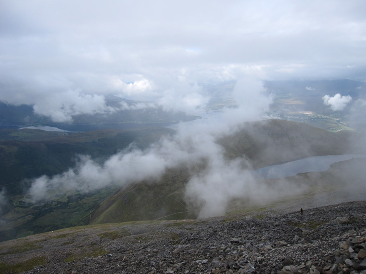 High above the Half-Way Lochan (Lochan Meall an t-Suidhe)