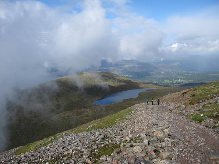 Still well above the Half-Way Lochan