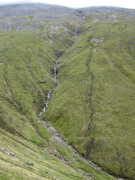 A more direct descent route is taken by the fell race (two days earlier)!