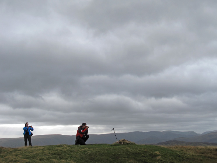 Photographing Great Mell Fell's summit