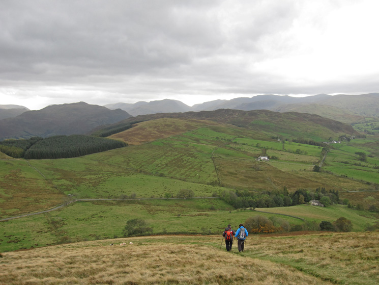 Descending to The Hause, Gowbarrow Fell in the middle distance