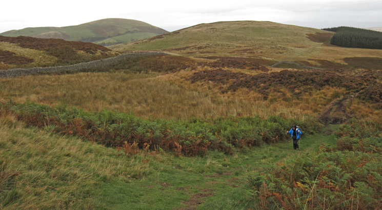 Getting close to Gowbarrow Fell's summit. Little Mell Fell in the far distance