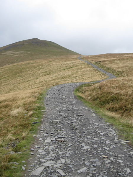 The main path. The pointed fell is Lesser Man