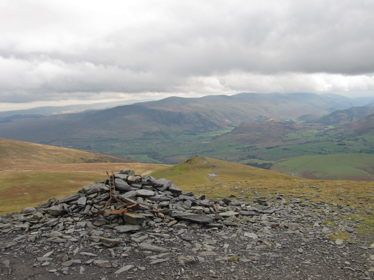 Lesser Man from Little Man with the Helvellyn ridge in the distance
